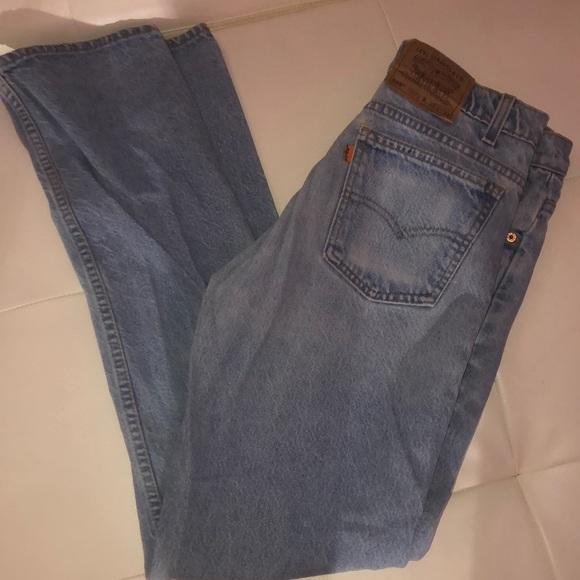 Levi's denim jean straight leg mom jeans light